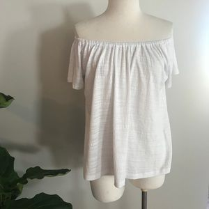 Anthropologie OTS white blouse size Small